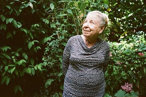 Mum in her garden, 2014
