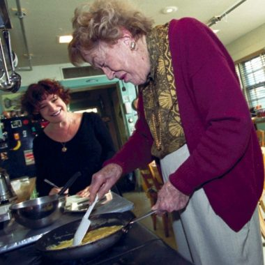 Marion-and-Julia-in-her-kitchen-Cambridge-Mass-1999