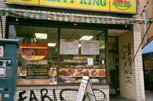"The famous Caribbean ""Patty King"" on Baldwin St."