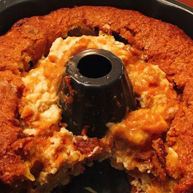 Failed carrot cake - instead, pudding!