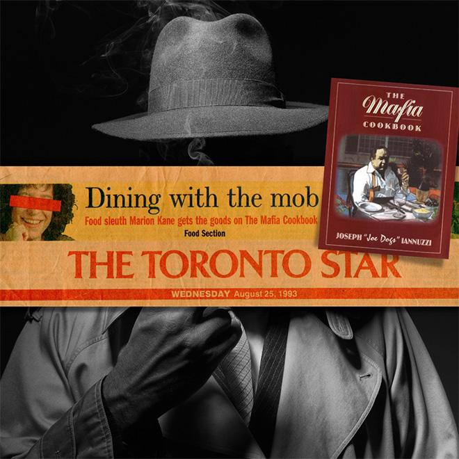 Mafia cookbook collage